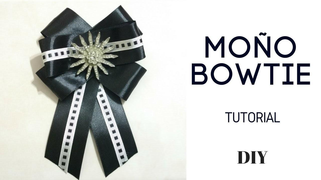 MOÑO BOWTIE  CORBATIN estilo VICTORIANO. DIY BROW BROCH