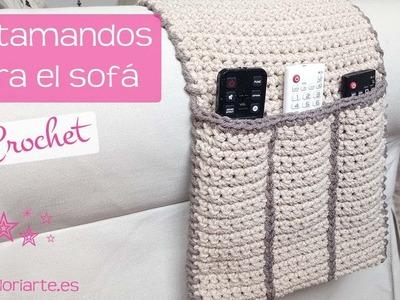 Organizador de mandos o portamandos TV para el sofá. Organizer of TV controls for the sofa.