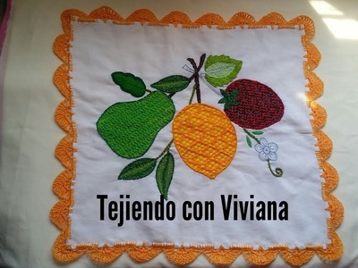 Orilla de Picos tejida a crochet #36