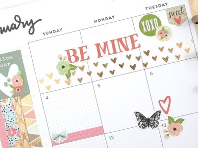 Plan With Me Monthly - February: Romance | The Happy Planner 2018