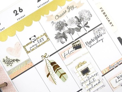 Plan With Me - NO Etsy Kit: Simple Stories | The Happy Planner 2018