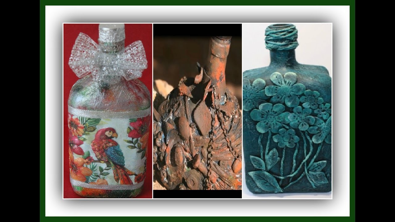 Reciclado de botellas de cristal colab. El rincón de Marilyn - El taller de Lili
