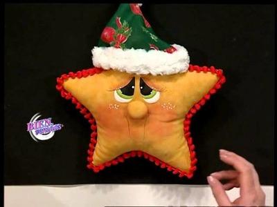 Silvia Nieruczkow - Bienvenidas TV - Explica como hacer una estrella para decorar una caja navideña.