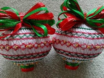 Smocking embroidery- Christmas Ornament