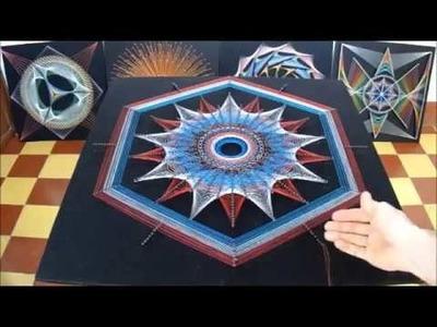String art estrellas concentricas por jorge de la tierra