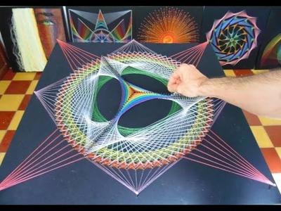 String art piramide fractus por jorge de la tierra