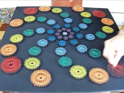 String art spiral en esferas por jorge de la tierra