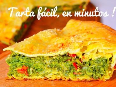 Tarta de espinacas Fácil Tarta de verduras acelga pascualina