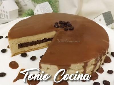 Tarta de Galleta con Mousse de Café - Receta sin horno