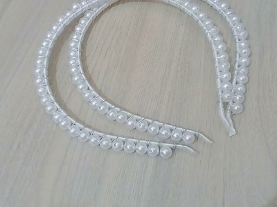 Tiara dupla de perolas para noiva