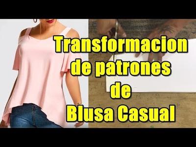 Transfomacion de patrones de blusa casual