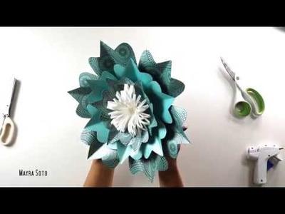 Tutorial Flor de Papel Elegante | Mayra Soto | Ovalos Flower Paper Art