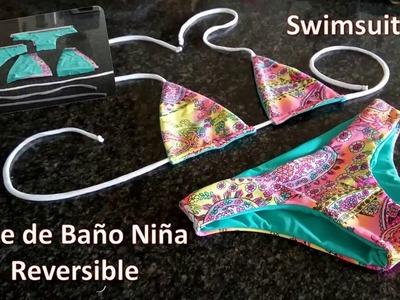 Vestidos de baño  Niña Reversible , swimsuits  Girls , DIY Obsequio Patrones Gratis, FREE PATTERNS