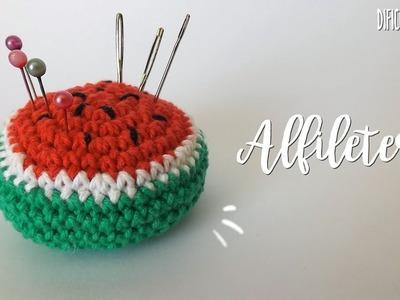Alfiletero de sandía ???? a crochet