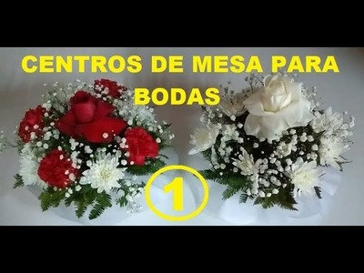 Arreglo floral para centro de mesa (Bautizos, Matrimonios, Etc