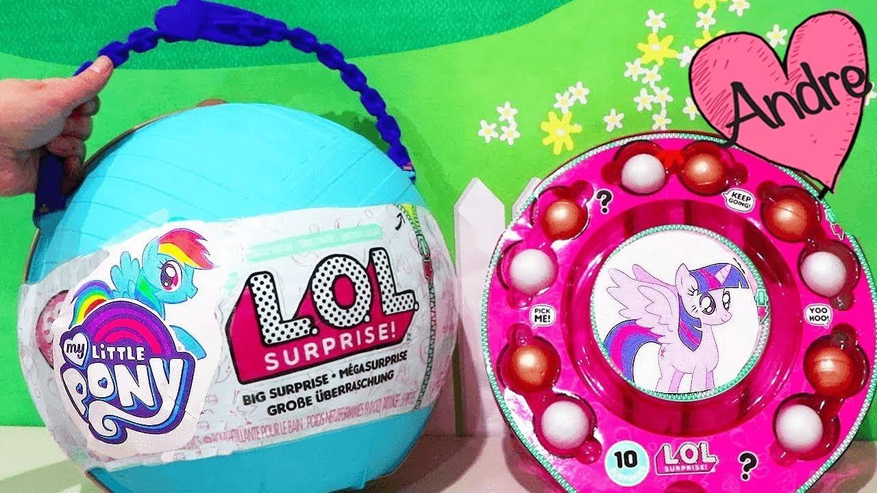 Bola gigante DIY My Little Pony con bebes   Muñecas y juguetes con Andre para niñas y niños