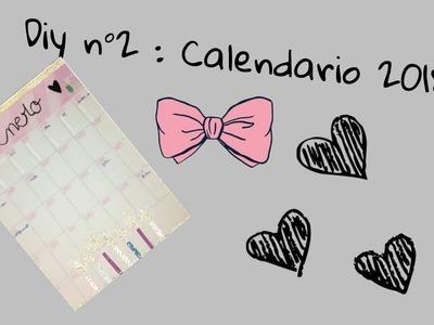 #Bts n°2 diy 2 : calendario 2018 ????????