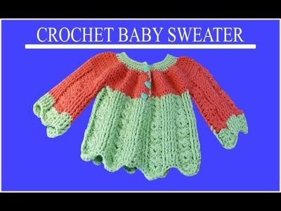 Chambrita o Jersey para bebe de 4 meses a un año en crochet