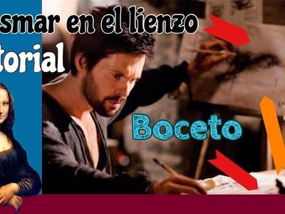 Cómo plasmar Boceto en el Lienzo. Arte con Diego
