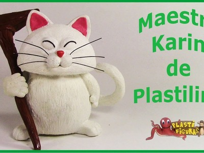 Como hacer a Maestro Karin de Plastilina.How To Make Karin with Plasticine.Drangon Ball