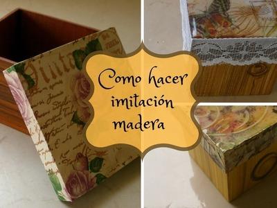 Como hacer imitación madera  - llushmay andrea