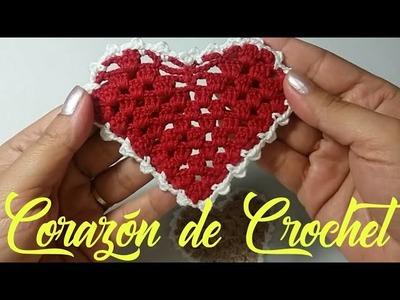 COMO HACER UN CORAZÓN DE CROCHET PASO A PASO (HEART TO CROCHET)