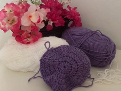 Como hacer una Boina para niña en Crochet ( paso 1.2 )