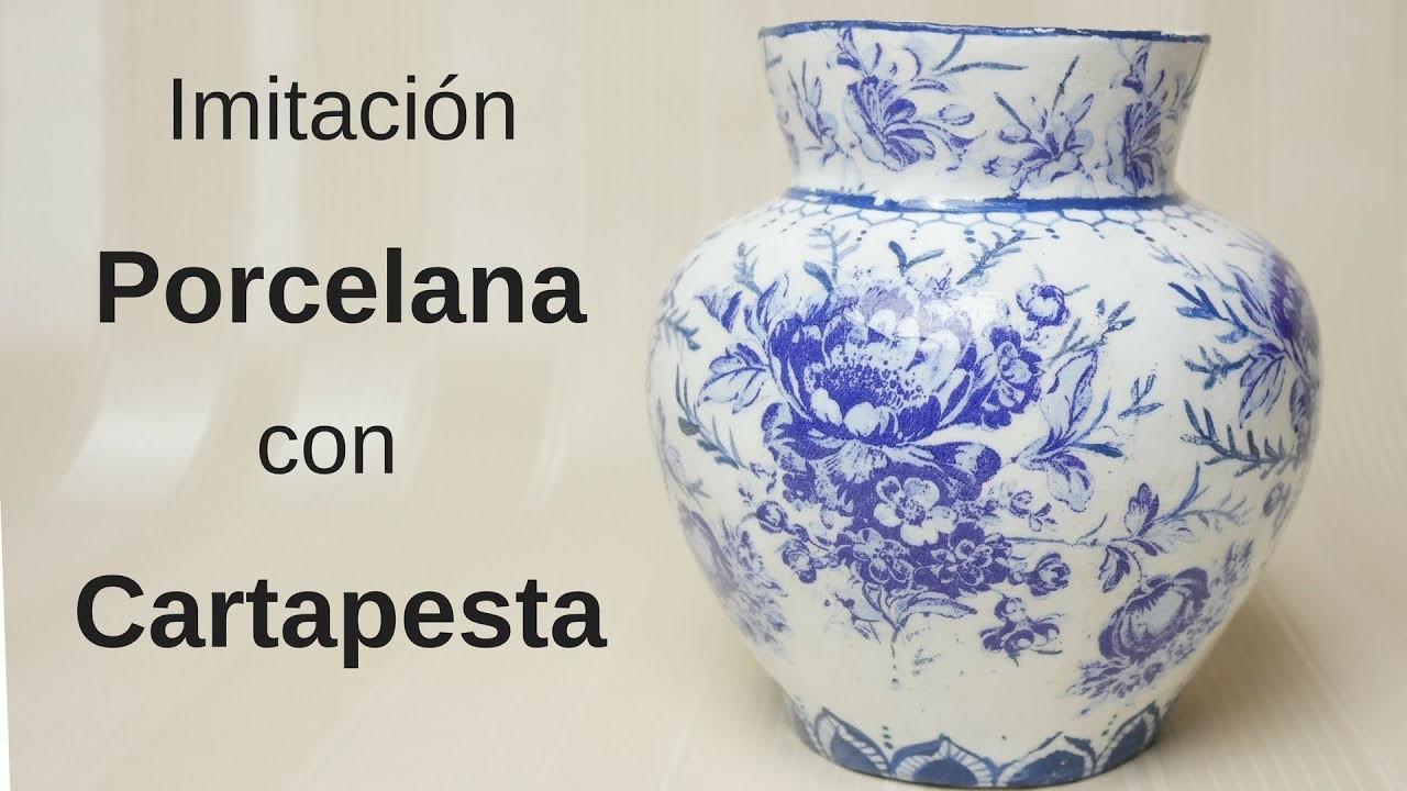 ????Como Imitar Porcelana con Cartapesta