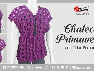 ¿Como tejer un chaleco con telar peruano?