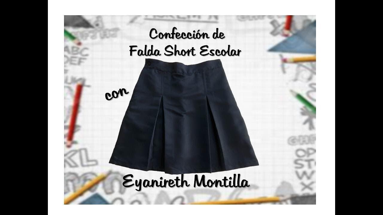 Confección de Falda Short Escolar