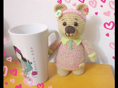 Cuerpo Osa Yoya Amigurumi a Crochet Versión (ZURDO)