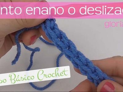 Curso básico crochet: punto enano o deslizado. Slip crochet stitch