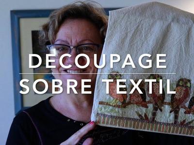 Decoupage sobre textil | Orden, papel y tijera