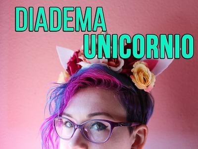 Diadema Unicornio y flores - DIY fácil - Ganchillo hasta la luna