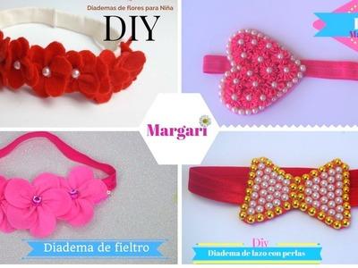 Diademas de fieltro para niñas 4 ideas ????| Margari