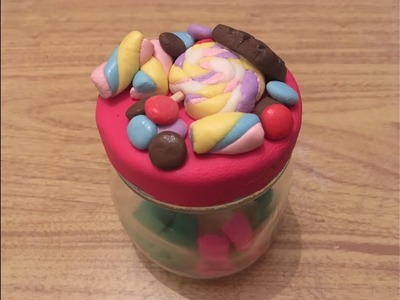 DIY: Caramelos porcelana fría. frasco decorado. dulces