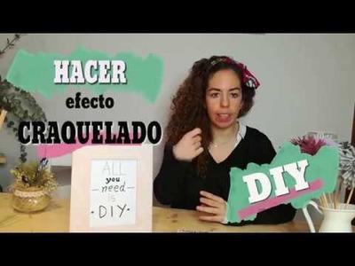 DIY: Cómo hacer efecto CRAQUELADO. Cola vs Craquelador