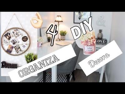 DIY Desk Ideas. Organiza y decora. Antes y Después de mi Oficina en casa.