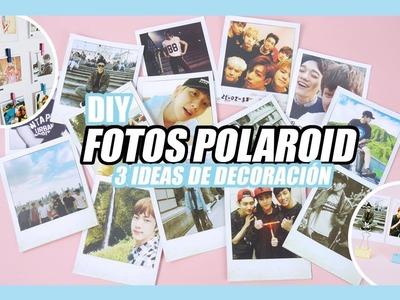 DIY K-POP : HAZ TUS FOTOS POLAROIDS SIN PROGRAMAS DE EDICIÓN + 3 IDEAS DE DECORACIÓN. JMARYLINJ