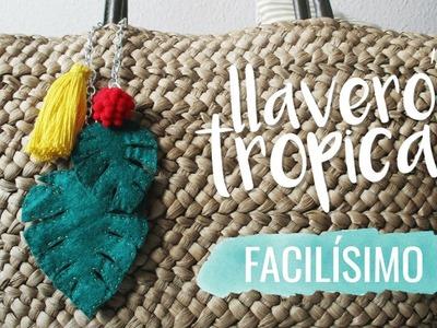 DIY~ Llavero tropical de fieltro ¡Facilísimo!