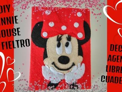 DIY Minnie Mouse en Fieltro Decora tu agenda,libreta o cuaderno