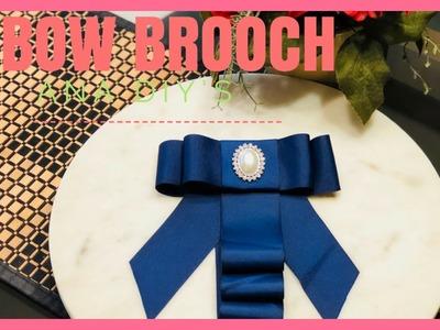 DIY. moño Victoriano. BOW BROOCH. tendencia 2018
