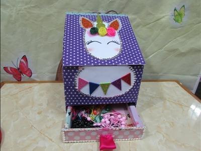 DIY-organizador de cartón  para vinchas y accesorios