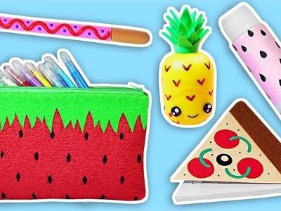 ???????? DIYS: Decora tus útiles escolares con Comida || Back to School Food Supplies ????????
