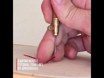 Hand embroidery with Kantan needle. Tutorial de bordado. Kantan needle how to