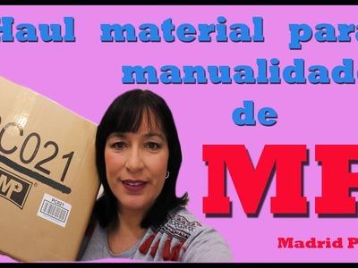 Haul material para manualidades colaboración con MP Madrid papel