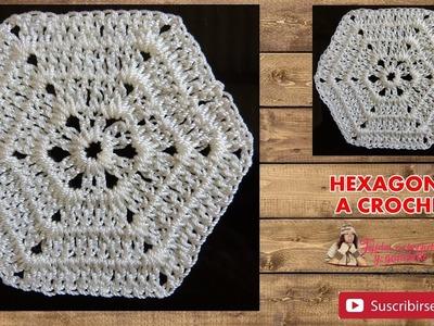 HEXAGONO  a crochet fácil y rápido de tejer
