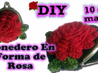 Monedero en Forma de Rosa: Regalo para Mama 10 de Mayo 2017