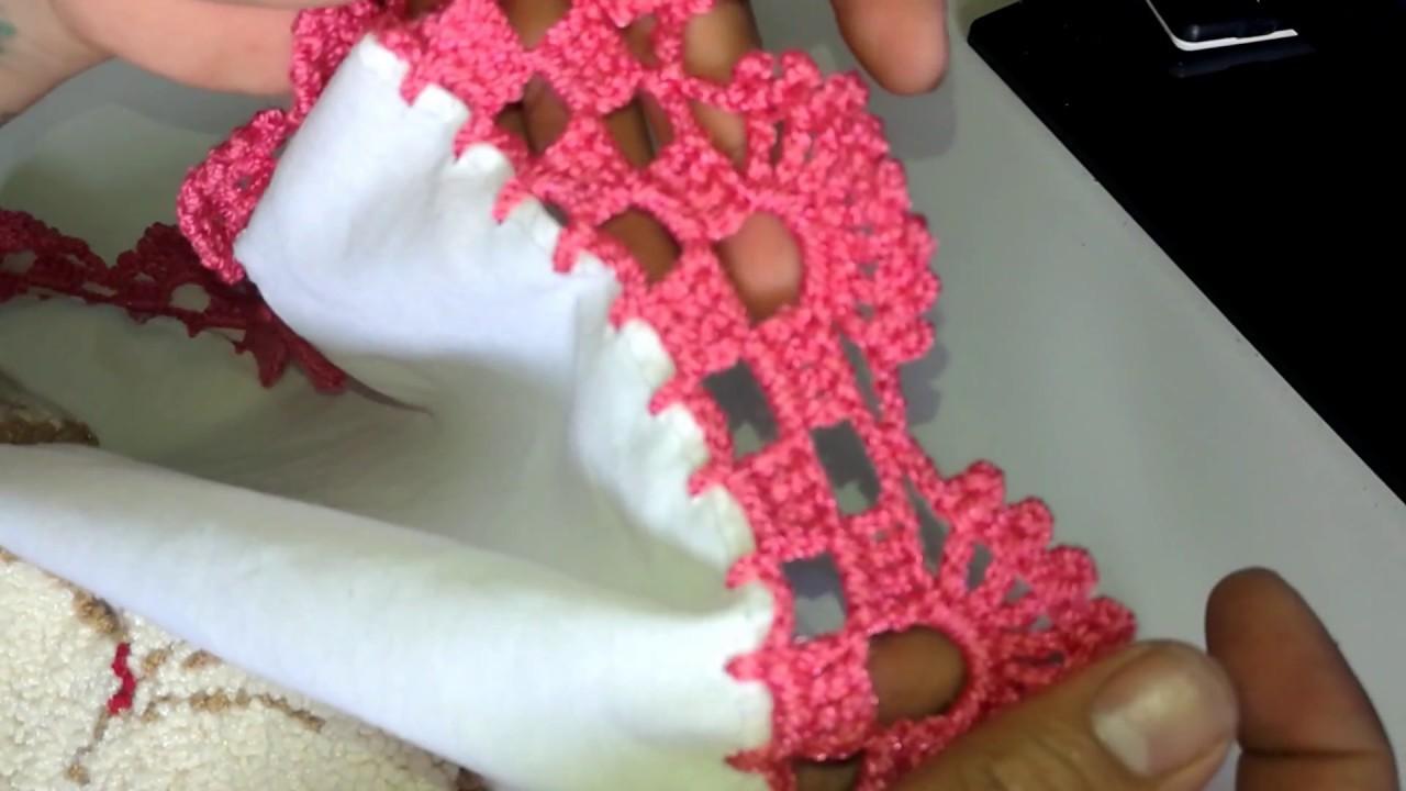 Orilla Tejida crochet Facil 2 ( media flor)