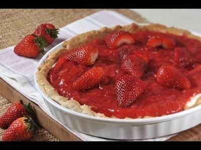 Pay de fresas con queso crema - Strawberry Pie with Cream Cheese